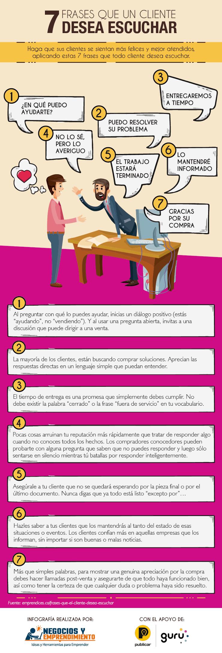7 frases que tu cliente quiere escuchar