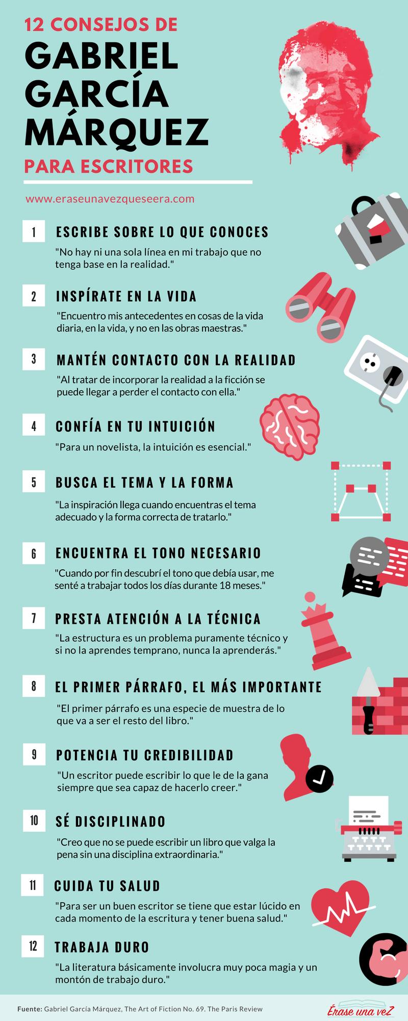 12 consejos de García Márquez para escritores