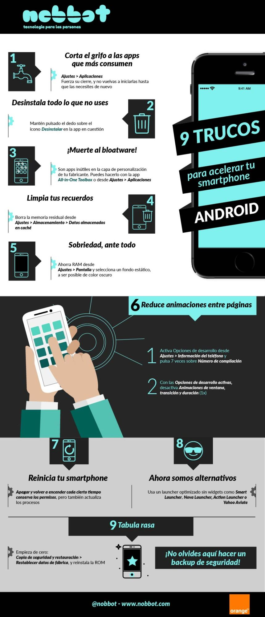 9 trucos para acelerar tu smartphone Android
