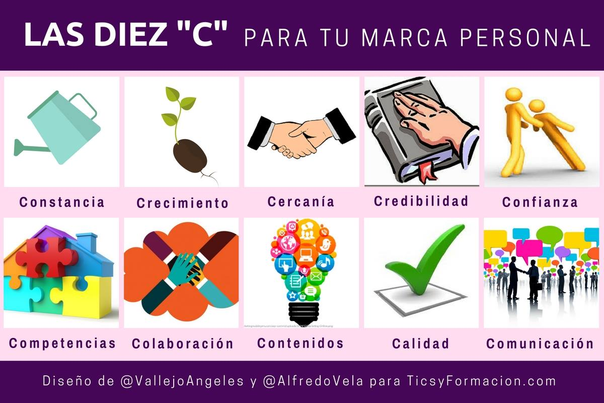 "Las 10 ""C"" para tu Marca Personal #infografia #marketing #marcapersonal"