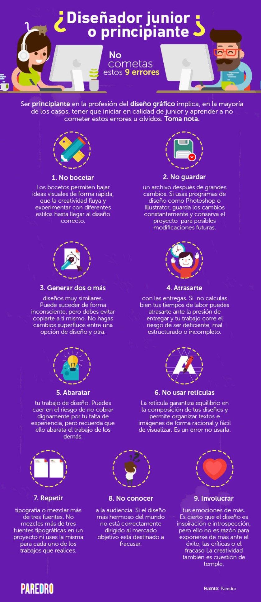 9 errores de los diseñadores principiantes