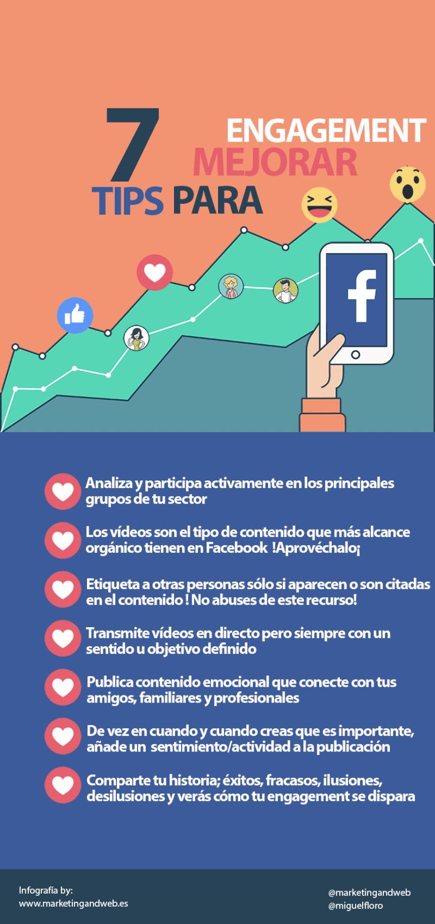 7 consejos para mejorar el engagement en Facebook