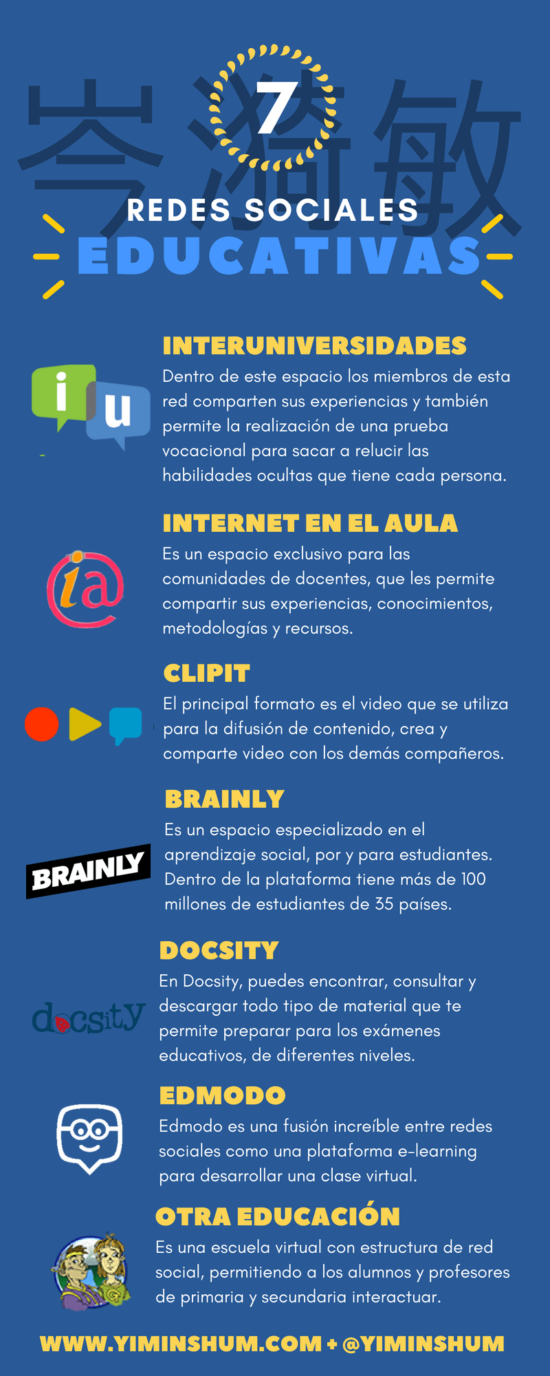 7 redes sociales educativas