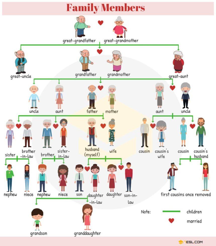 Aprende inglés: los miembros de la familia