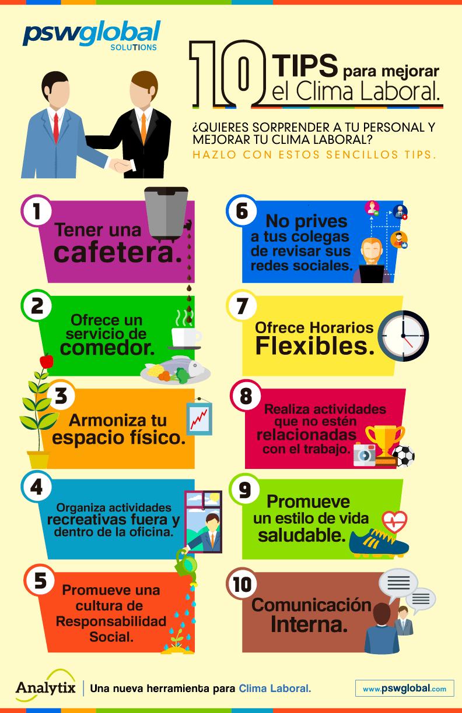 10 consejos para mejorar el clima laboral