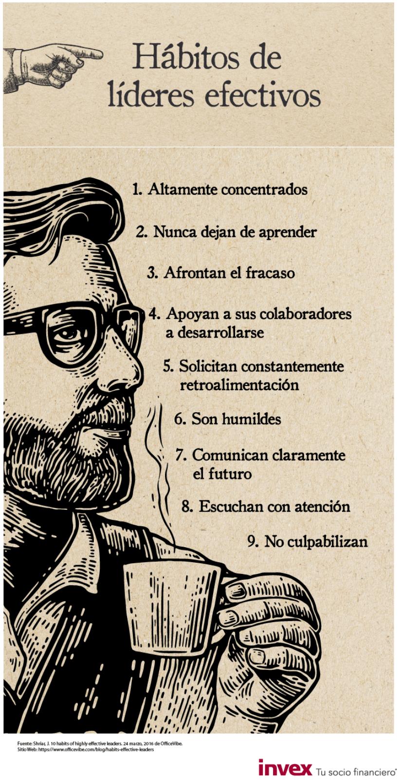 9 hábitos del los líderes efectivos