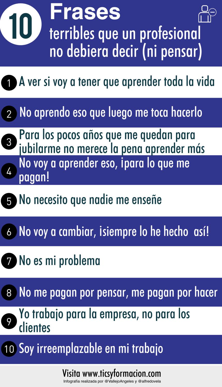 10 frases que un profesional no debiera decir (ni pensar)