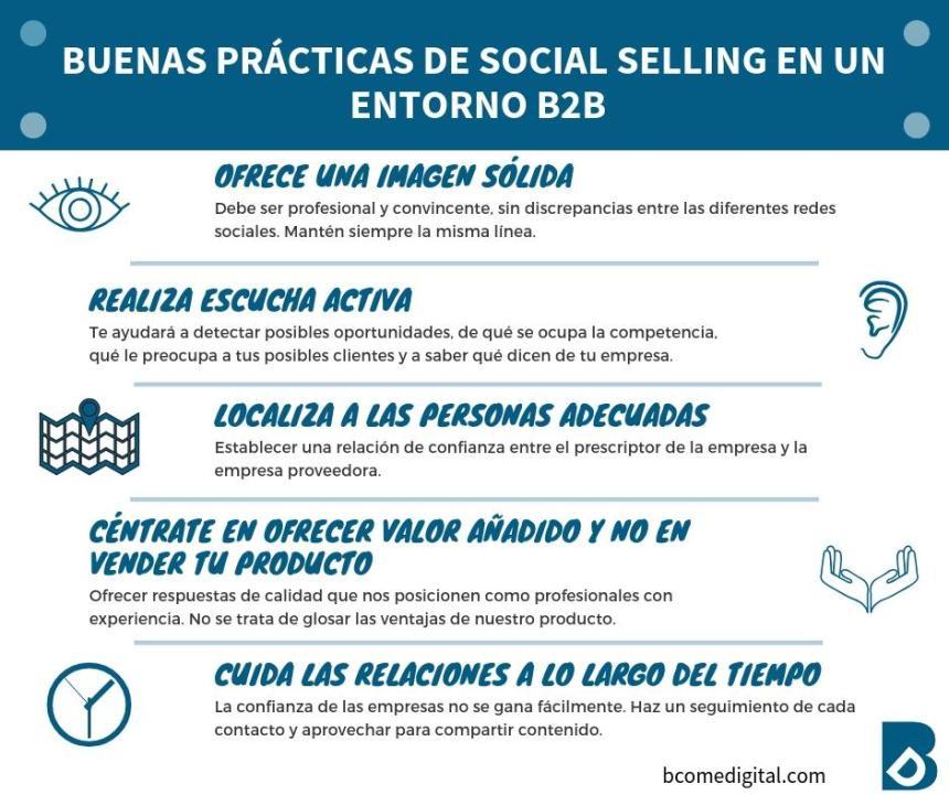 Buenas prácticas de Social Selling en un entorno B2B