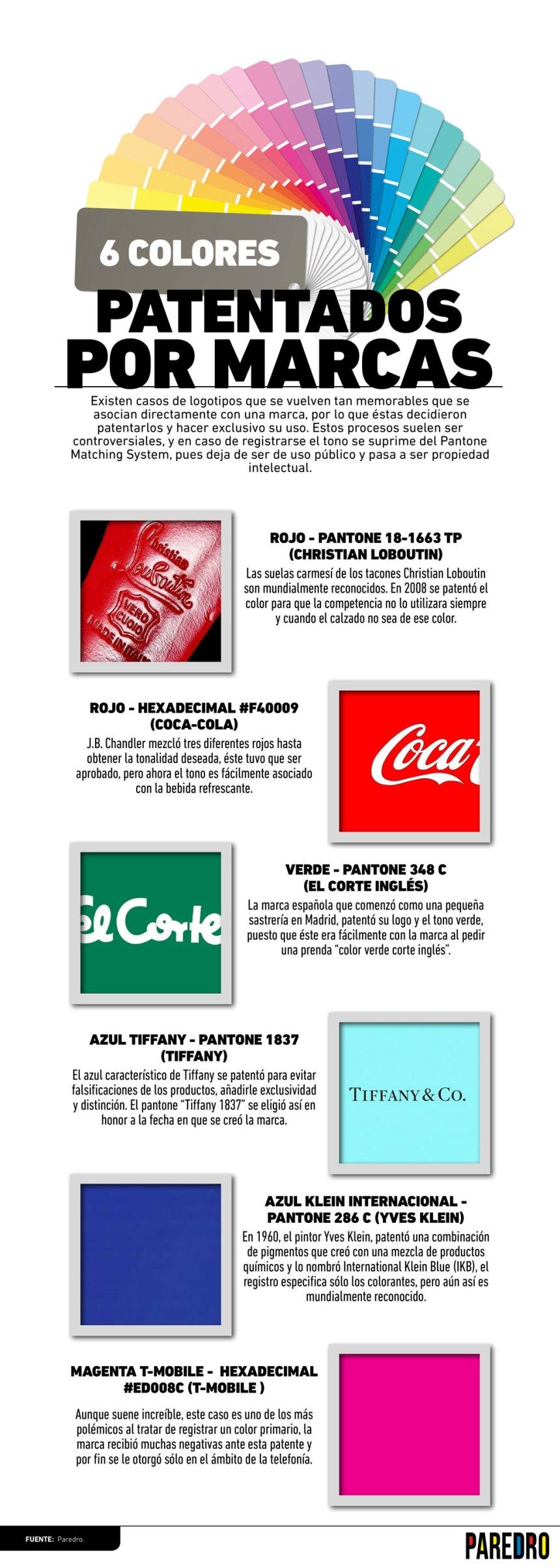 6 colores patentados por marcas