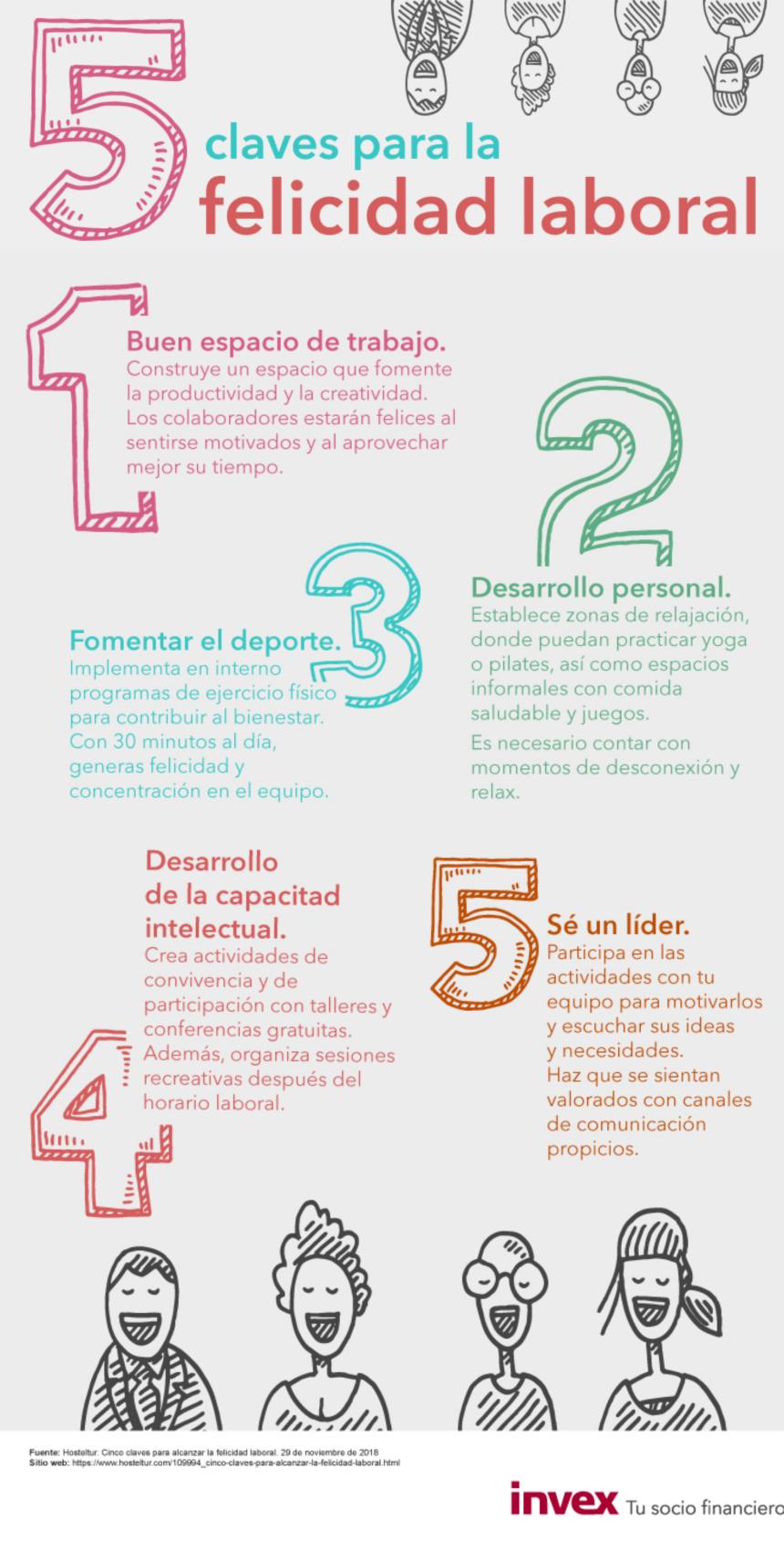 5 claves para la felicidad laboral