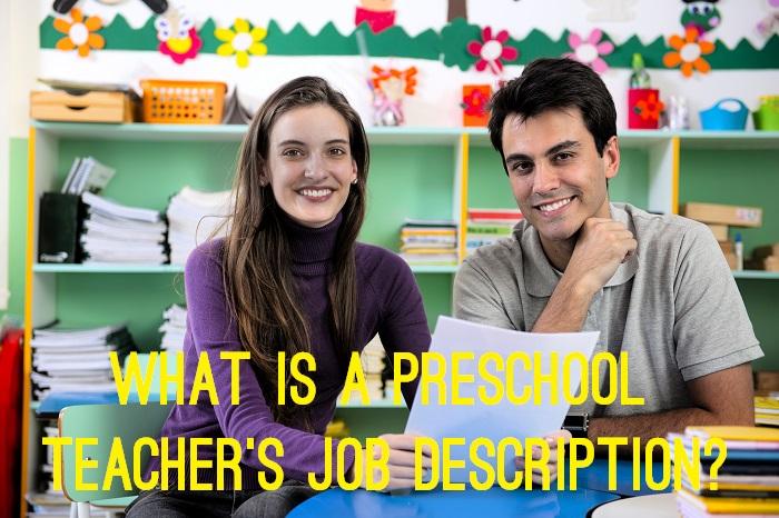 What is a preschool teacher's job description? www.tictacteach.com