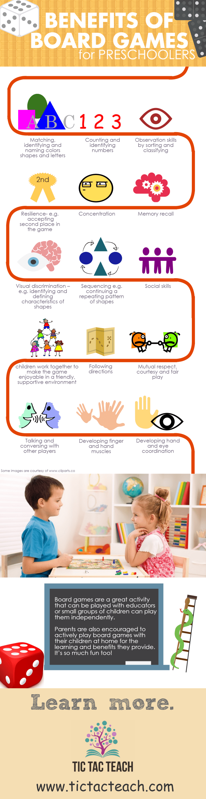 Preschool board games - TicTacTeach
