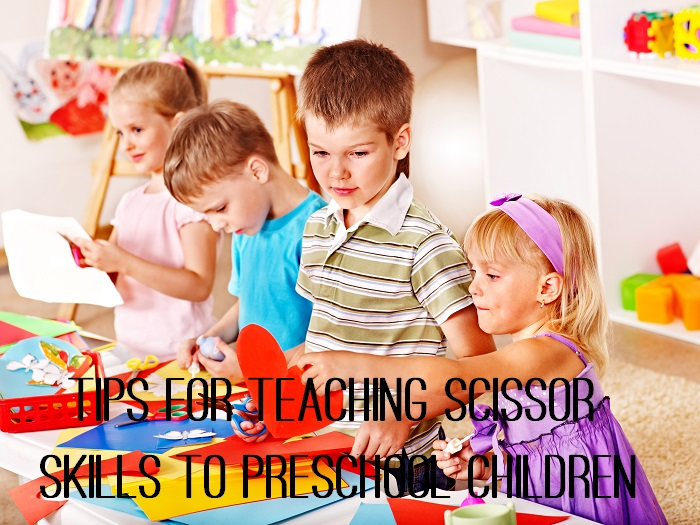 Tips for teaching scissor skills to preschool children - www.tictacteach.com