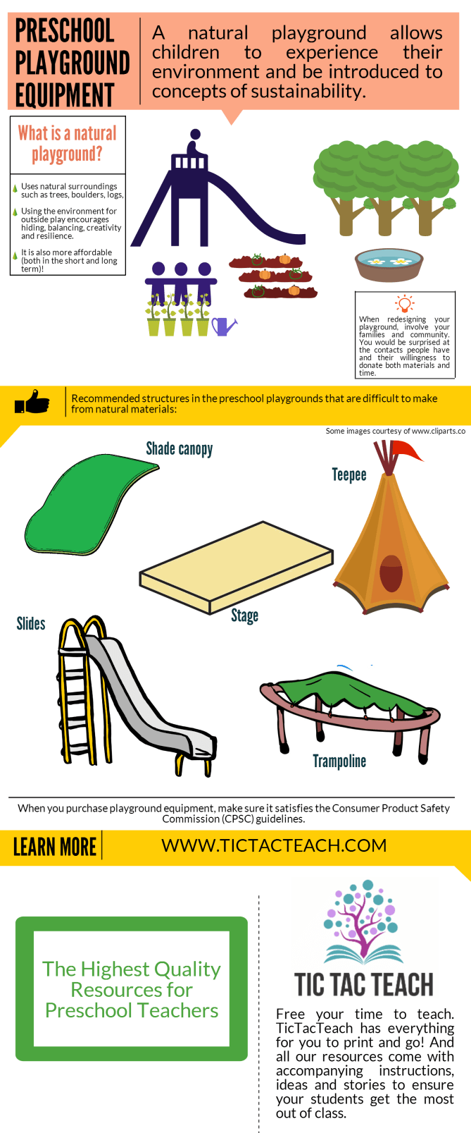 TIcTacTeach playground infographic