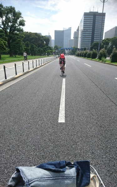Riding around the Imperial Palace!