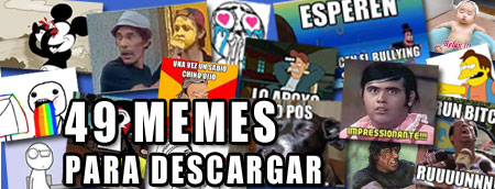 Pack de 49 memes para descargar