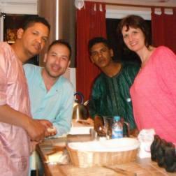Retrouvailles à Theza chez Bernard avec les 2 frères Sidi et Tidjani