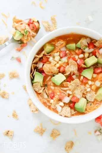 Pressure Cooker Creamy Chicken Enchilada Soup