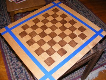 Davids chess table step 1