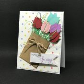 Hello Spring Bag of Tulips Card