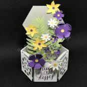 Hexagon Floral Box Card