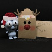 Rudolph Gift Card Holder or Tag