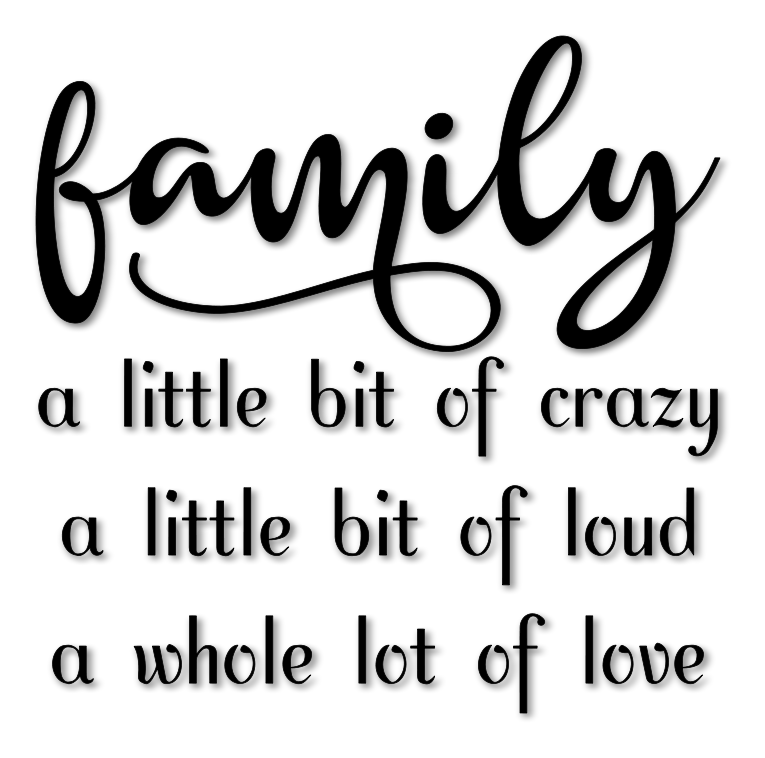 Family Crazy Loud Love Word Art Svg File
