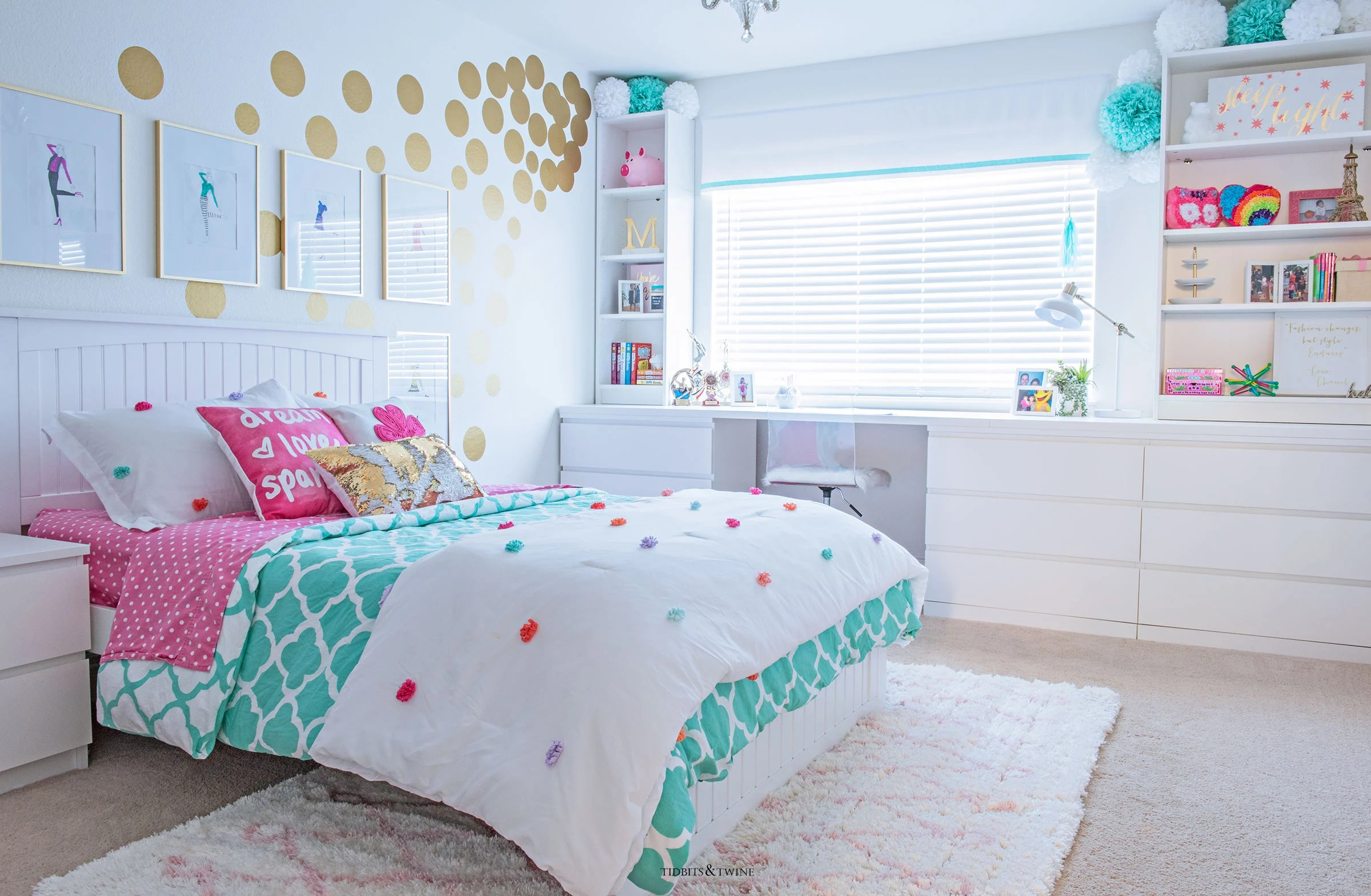 Tween Girl's Bedroom Makeover