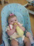 Learned how to hold the bottle very early in life.