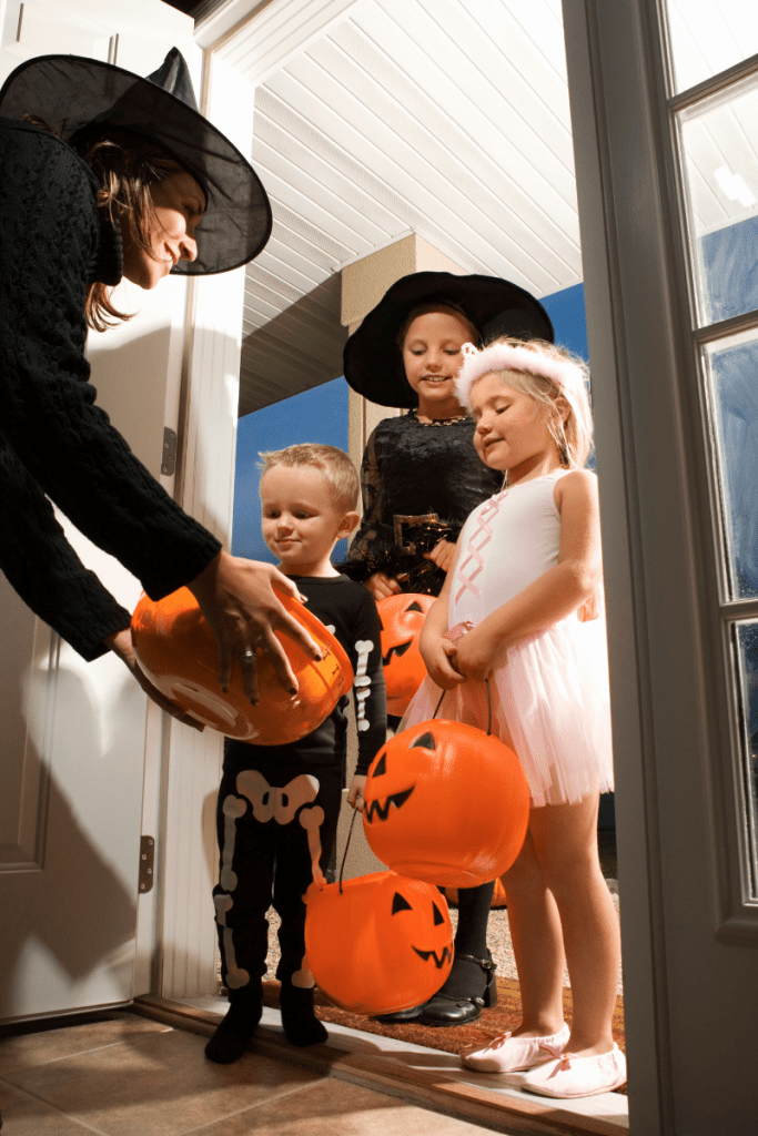 photo of trick or treaters