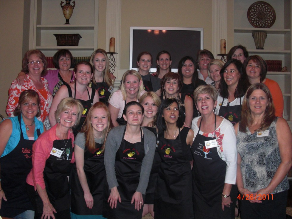 """Mentoring Young Women with some of my """"Best Girlfriends"""". We teach hospitality, cooking and mentoring classes in my home. Beautiful Group of women. I am on the front row far left."""