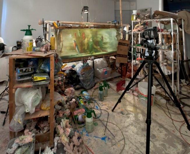Kim Keever's studio set up | tide & bloom