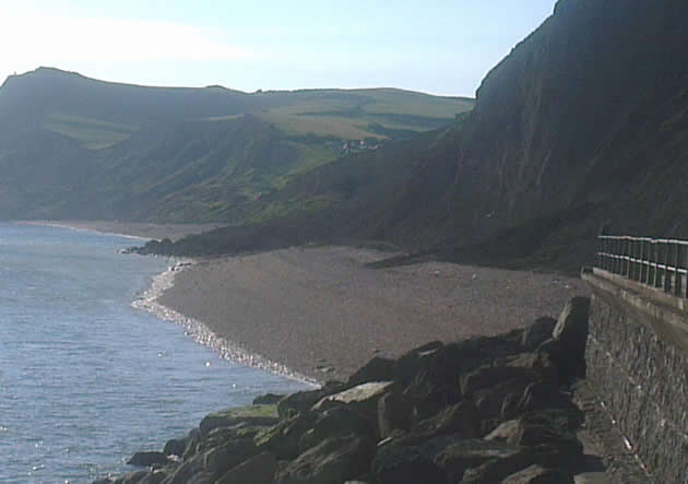 Landslip between West Bay and Eype
