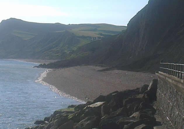 Landslip between West Bay and Eype