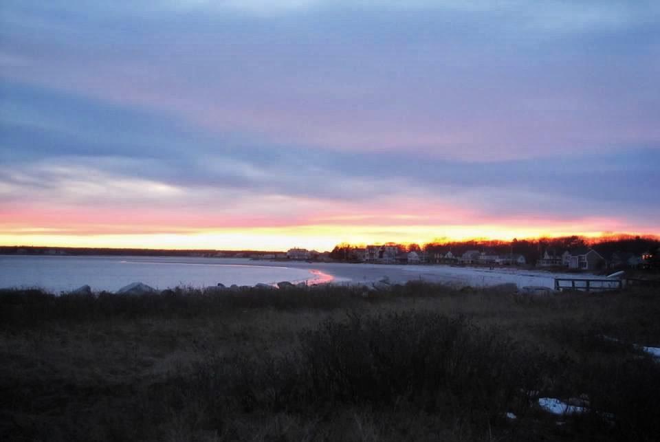 Beach Horizon at Sunset