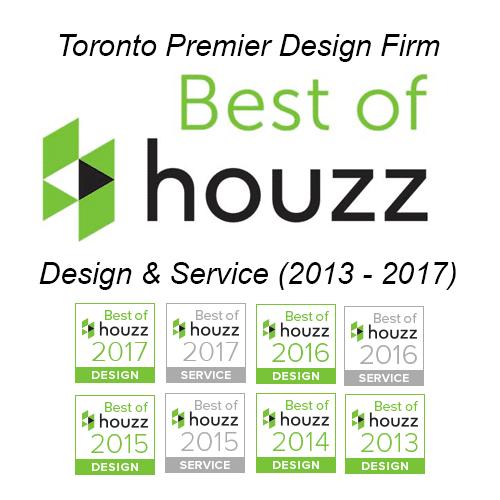 Toronto Premier Design Firm, Best of Houzz Design & Service (2013 - 2017)