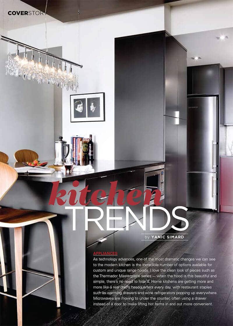 Kitchen Trends - Yanic Simard - Toronto Interior Design Group