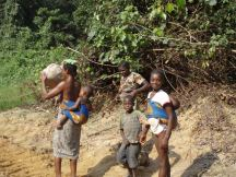 Family making it's way to next village.