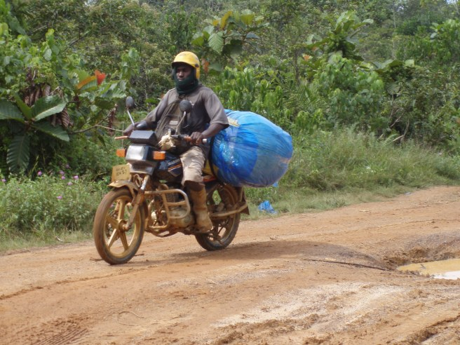 A pen Pen driver transporting goods.