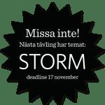 Ny tävlingsomgång på temat Storm