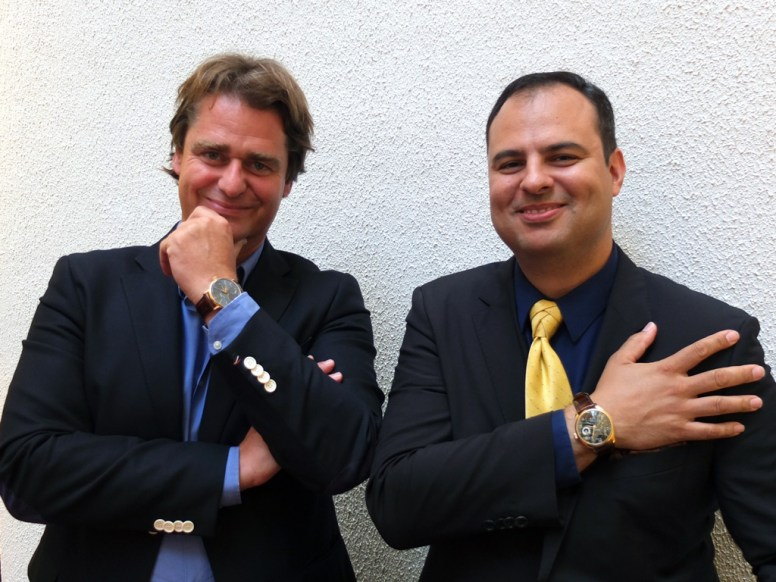 Managing Director Robert Pennartz (t.h.) og urmaker Christian Bresser
