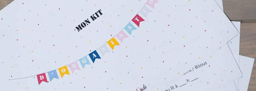Kit d'organisation pour enfant (à imprimer)