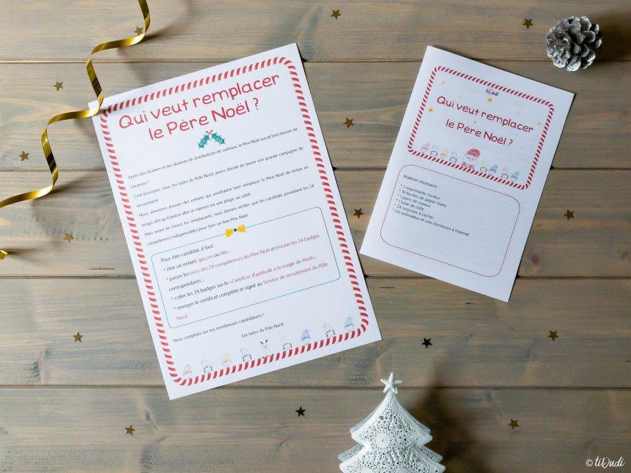 Calendrier de l'Avent chasse au trésor Qui veut remplacer le Père Noël tiDudi