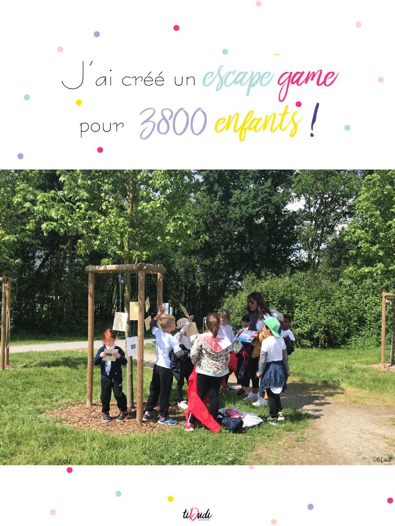 J'ai créé un escape game pour 3800 enfants ! tiDudi