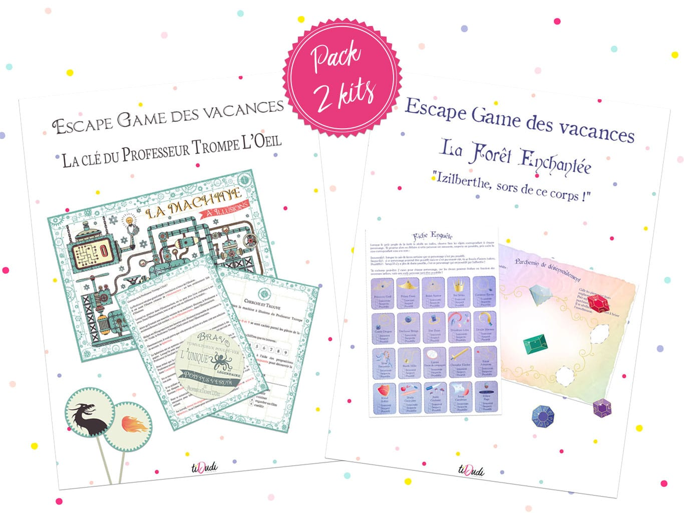 Pack 2 escape games des vacances