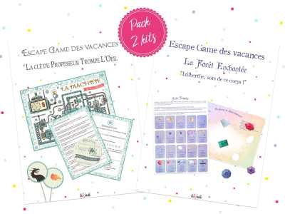 Pack 2 kits escape game des vacances tiDudi