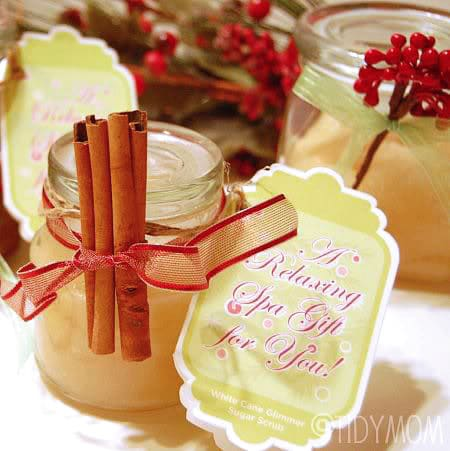 Cinnamon Vanilla Sugar Scrub from TidyMom