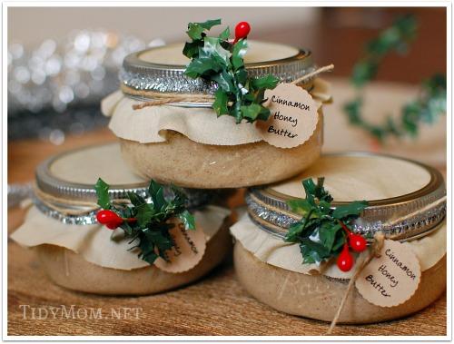 DIY Christmas Gifts Homemade Cinnamon Honey Butter
