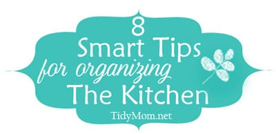 8 smart tips for organizing kitchen