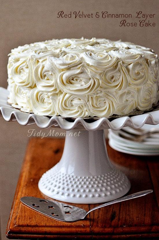 Red Velvet Cinnamon Layer Rose Cake TidyMom